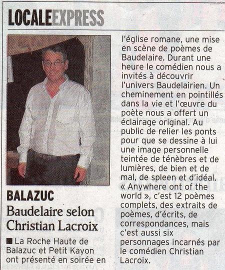 Le Dauphiné Libéré - Août 2008
