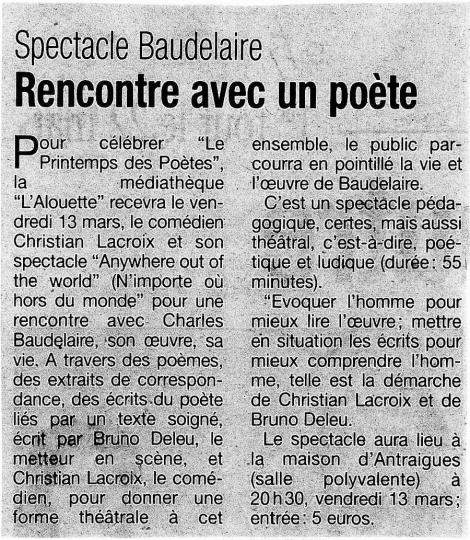 La Tribune - 04/03/2009